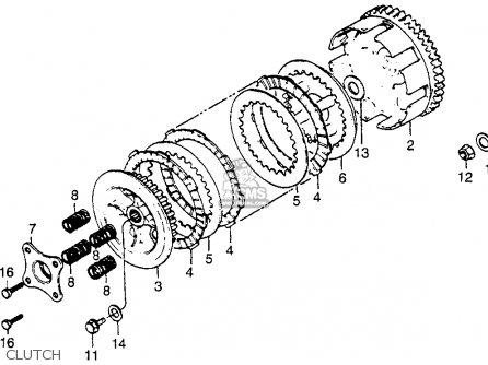 Honda Cr80r 1984 Usa parts list partsmanual partsfiche