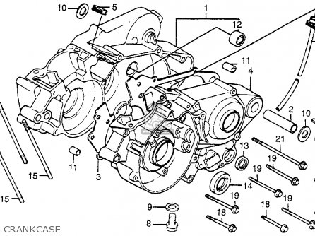 Honda Cr80r 1984 Usa parts list partsmanual partsfiche