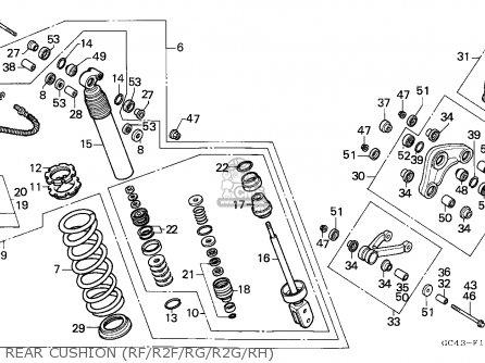 Honda CR80R 1985 (F) AUSTRALIA parts lists and schematics