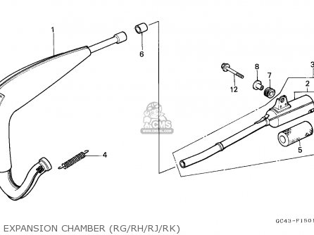 Honda CR80R 1986 (G) AUSTRALIA parts lists and schematics