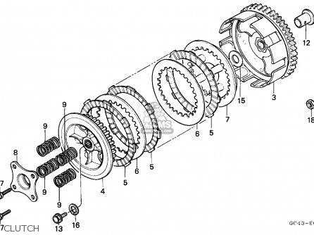 Honda Cr80r 1986 (g) Canada parts list partsmanual partsfiche