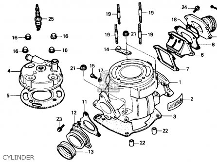 Honda Cr80r 1986 (g) Usa parts list partsmanual partsfiche