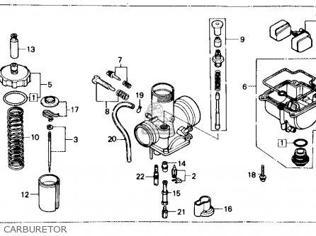Honda Cr80r 1986 Usa parts list partsmanual partsfiche