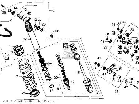 Honda Cr80r 1987 (h) Usa parts list partsmanual partsfiche