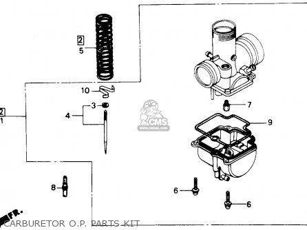 Honda Cr80r 1988 (j) Usa parts list partsmanual partsfiche
