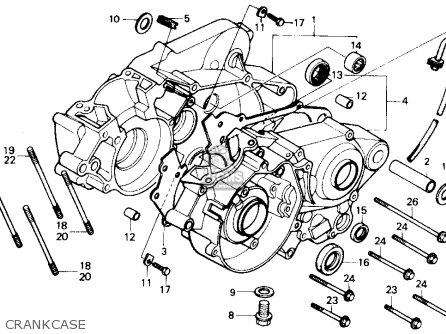 Honda CR80R 1988 (J) USA parts lists and schematics