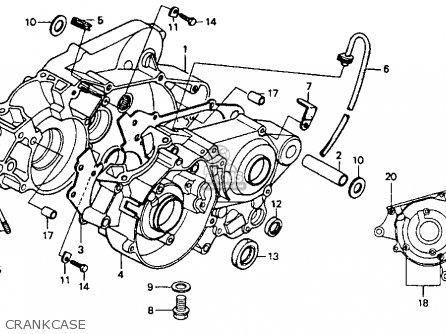 Honda Cr80r 1990 (l) Usa parts list partsmanual partsfiche