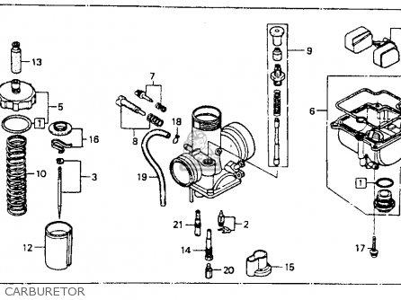 Honda CR80R 1991 (M) USA parts lists and schematics