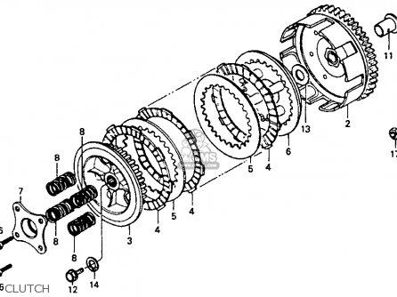 Honda Cr80r 1991 (m) Usa parts list partsmanual partsfiche