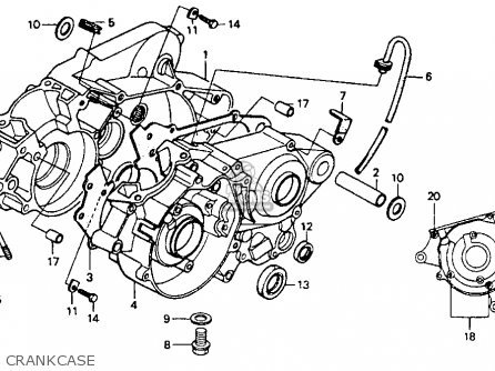 Honda Cr80r 1991 Usa parts list partsmanual partsfiche