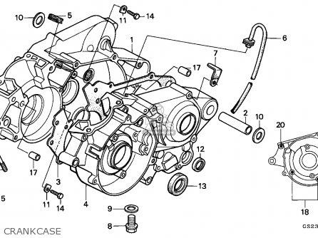Honda Cr80r 1992 Australia parts list partsmanual partsfiche
