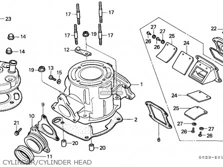 Honda Cr80r 1992 European Direct Sales / Cmf parts list