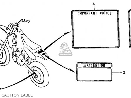 Honda CR80R 1992 (N) USA parts lists and schematics