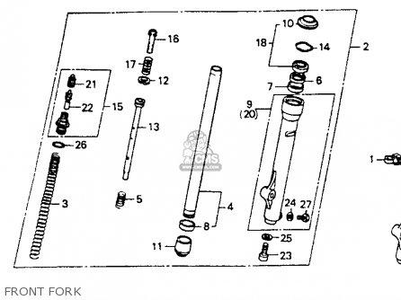 Honda CR80R 1992 (N) USA parts lists and schematics