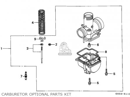 Honda Cr80r 1993 (p) Australia parts list partsmanual