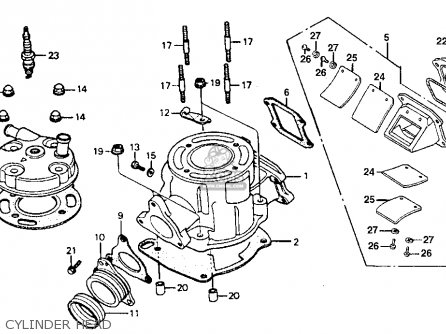 Honda Cr80r 1993 (p) Usa parts list partsmanual partsfiche