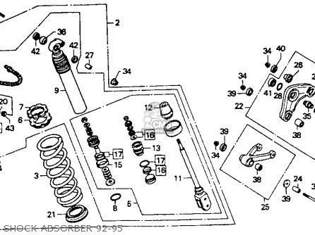 Honda Cr80r 1993 (p) Usa parts list partsmanual partsfiche