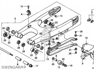 Honda Cr80r 1996 Australia parts list partsmanual partsfiche