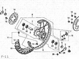 Honda CR80R 2001 (1) JAPAN parts lists and schematics