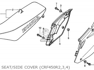 Honda CRF450R 2003 (3) EUROPEAN DIRECT SALES parts lists