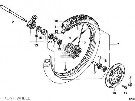Honda CRM125R 1990 (L) FRANCE / CMF parts lists and schematics