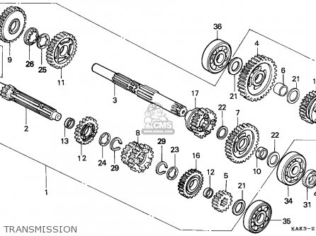 Honda CRM125R 1991 (M) FINLAND parts lists and schematics