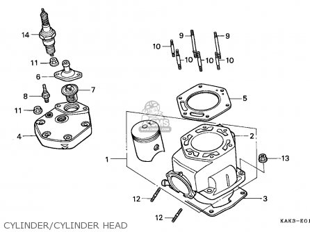 Honda Crm125r 1991 (m) Portugal parts list partsmanual