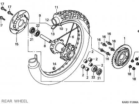 Honda CRM125R 1991 (M) PORTUGAL parts lists and schematics