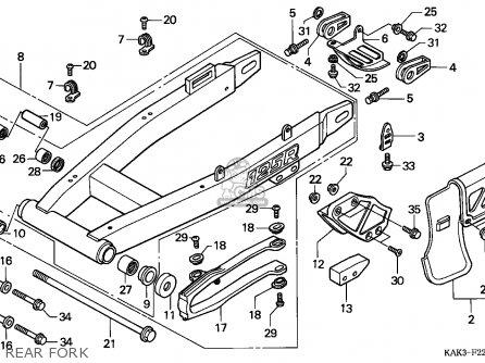 Honda Crm125r 1993 (p) Italy parts list partsmanual partsfiche