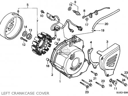 Honda CRM125R 1994 (R) ITALY parts lists and schematics