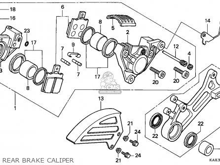 Honda Crm125r 1994 (r) Italy parts list partsmanual partsfiche