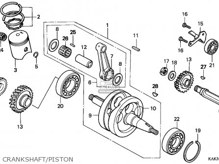 Honda CRM125R 1997 (V) FRANCE / CMF parts lists and schematics