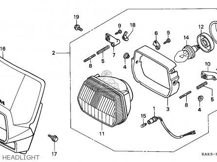 Honda Crm125r 1997 (v) Italy parts list partsmanual partsfiche