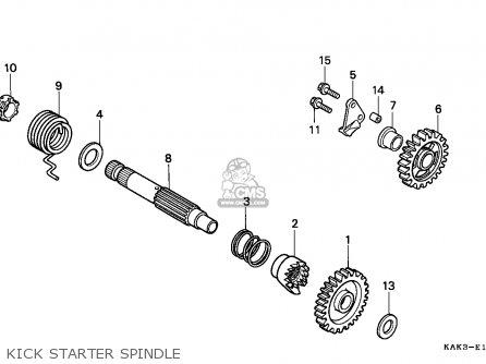 Honda CRM125R 1997 (V) ITALY parts lists and schematics