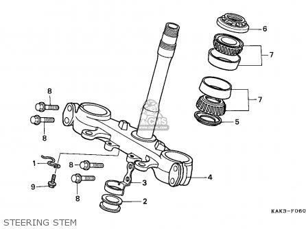 Honda CRM125R 1999 (X) FRANCE parts lists and schematics