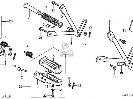 Honda Crm125r 1999 (x) France parts list partsmanual