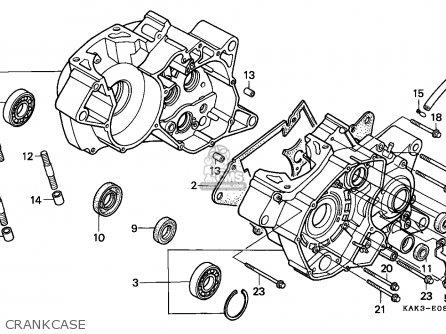 Honda CRM125R 1999 (X) ITALY / LS parts lists and schematics