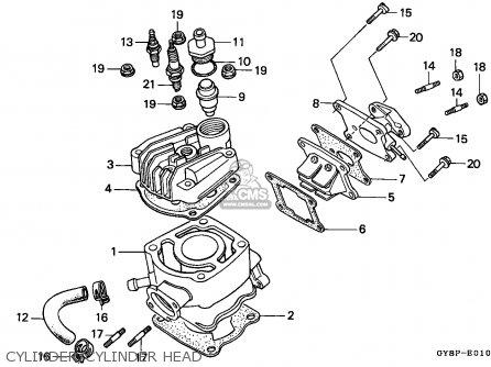 Honda Crm50r 1992 Portugal parts list partsmanual partsfiche