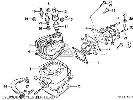 Honda Crm75r 1991 (m) Spain parts list partsmanual partsfiche