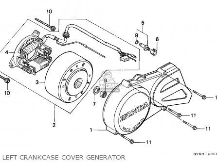 Honda Crm75r 1994 (r) Spain parts list partsmanual partsfiche
