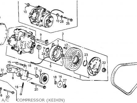 Honda Crx 1984 2dr Dx 1500 (ka,kl) parts list partsmanual