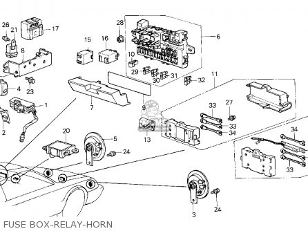 Honda Crx 1984 2dr Dx 1500 (ka,kl) parts list partsmanual