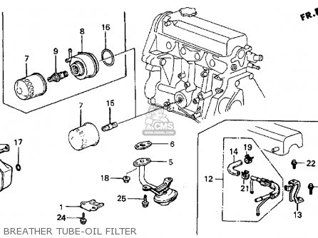 Honda Crx 1984 (e) 2dr Dx 1300 (ka,kh,kl) parts list