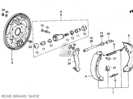 Honda CRX 1984 (E) 2DR DX 1300 (KA,KH,KL) parts lists and