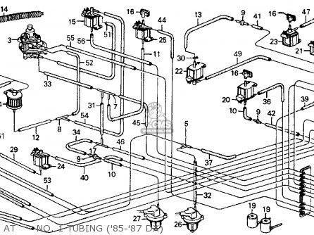 Honda Crx 1985 2dr Dx (ka,kl) parts list partsmanual