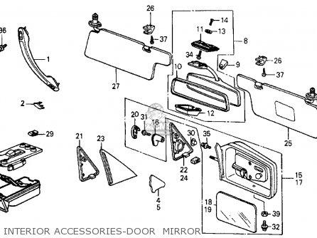 Honda Crx 1985 2dr Hf (ka,kh,kl) parts list partsmanual