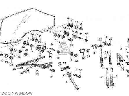 Honda Crx 1985 2dr Si (ka,kl) parts list partsmanual