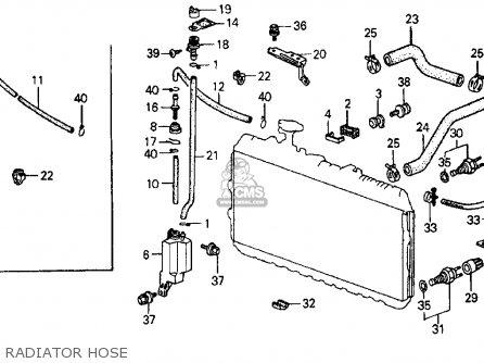Honda CRX 1985 (F) 2DR HF (KA,KH,KL) parts lists and