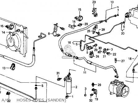 Honda Crx 1986 2dr Dx (ka,kl) parts list partsmanual
