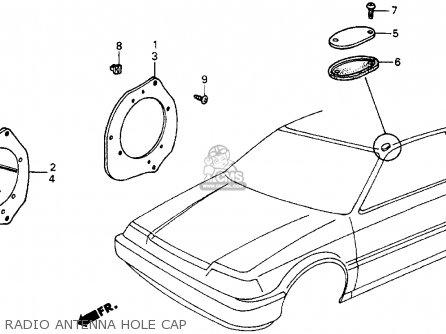 Honda Crx 1986 2dr Si (ka,kl) parts list partsmanual